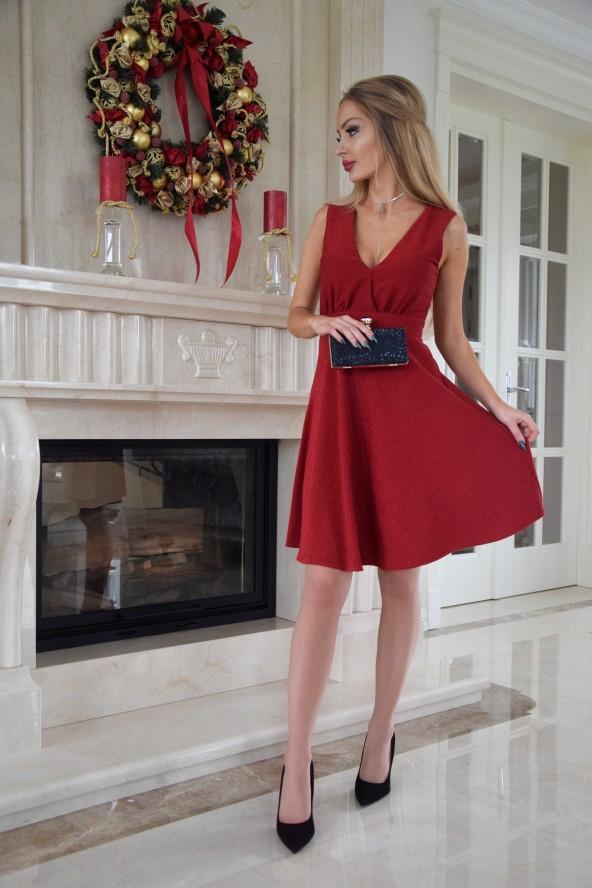 Sukienka MIŁKA - czerwona