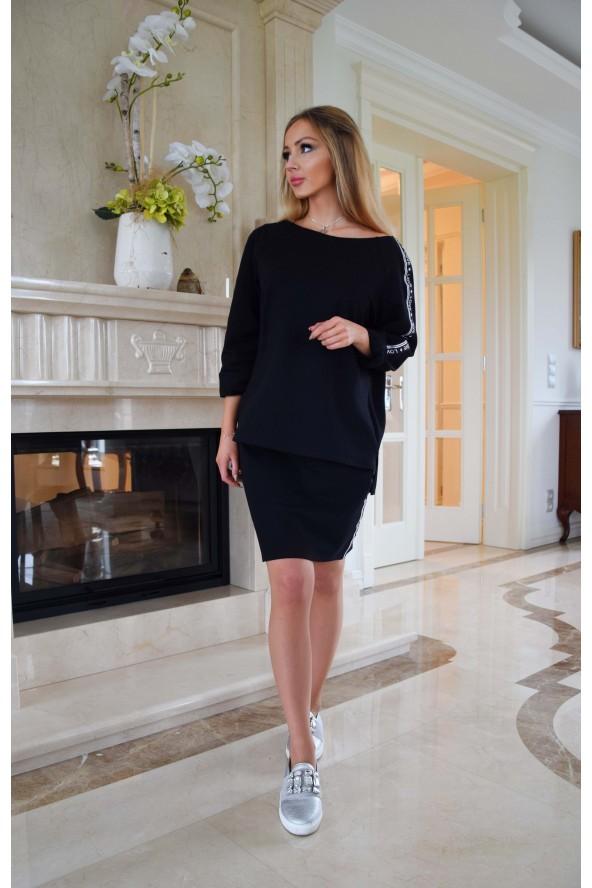 Spódnica dresowa czarna -...