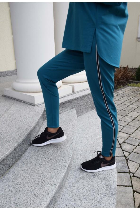 Spodnie dresowe turkusowe -...